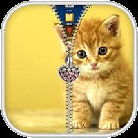 Kitty Zipper Screen Lock 10.1