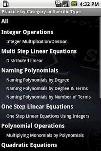 Algebra Tutor- screenshot thumbnail