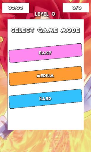 DBZ Super Saiya Puzzle Game
