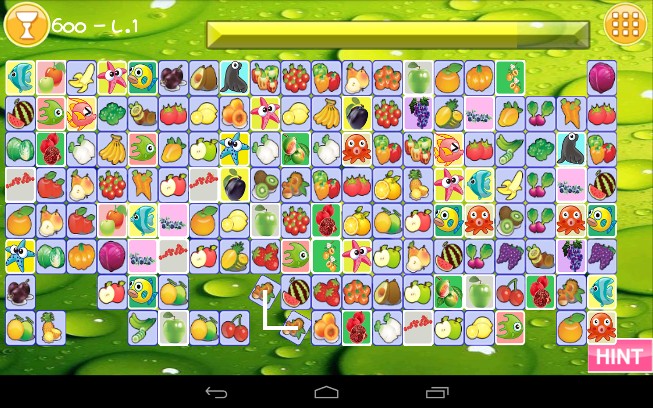 Fruit link deluxe - Match And Connect Fruits Screenshot
