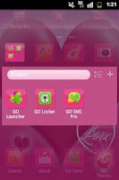 Screenshot of GO Launcher EX Theme Love Pink
