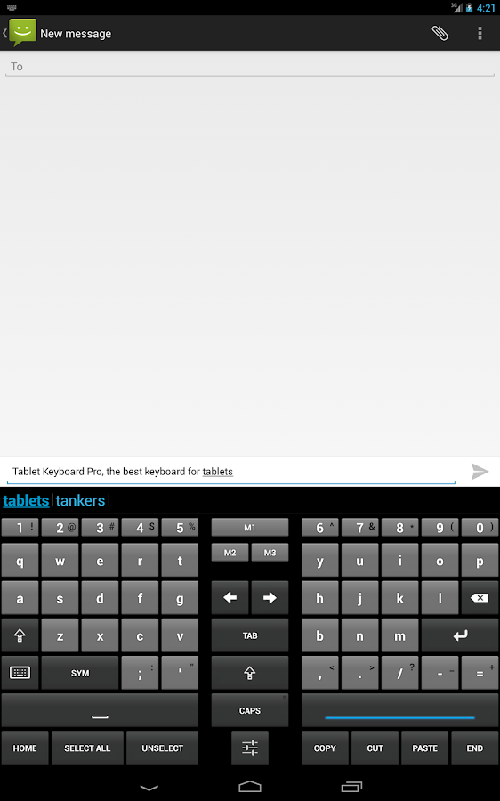Tablet Keyboard Pro - screenshot