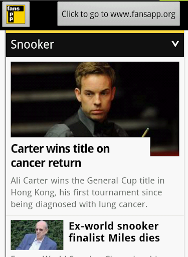 UK Snooker News FansApp