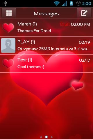 GO SMS Pro Love Theme
