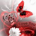 Red Butterfly White Flower Lov logo
