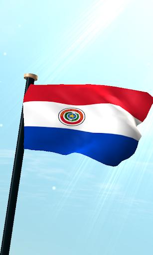 巴拉圭旗3D免費動態桌布