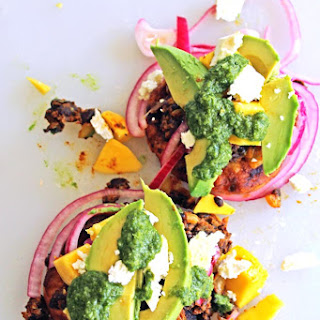 Black Bean Arepas With Mango And Aji