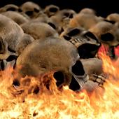 Burning Skulls Live Theme