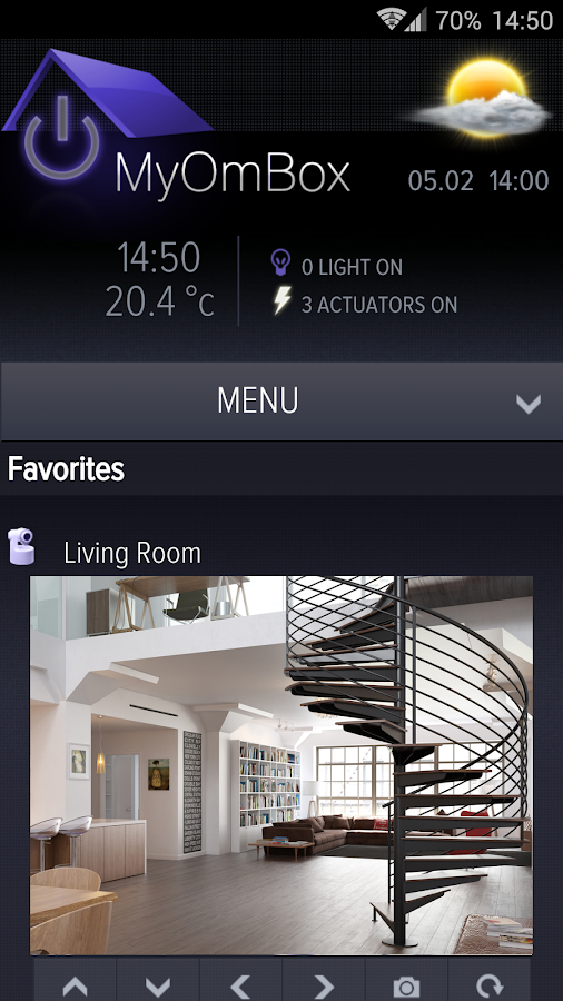 MyOmBox - MyHome automation- screenshot