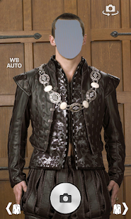 Medival men suit photo montage screenshot