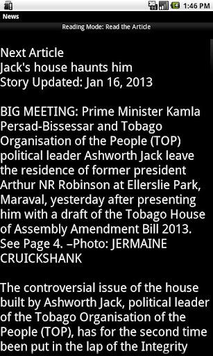 【免費新聞App】Trinidad and Tobago News-APP點子