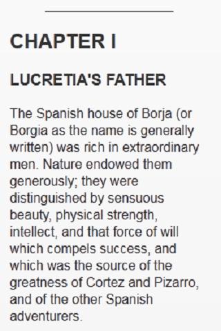 【免費書籍App】LUCRETIA BORGIA-APP點子