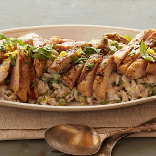 Creamy Lemon-Pepper Orzo Chicken