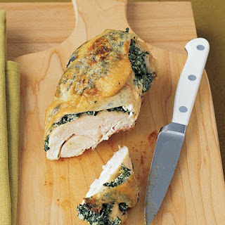 Chicken Breasts Stuffed with Spinach and Ricotta.
