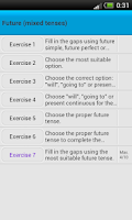 Screenshot of English exercises