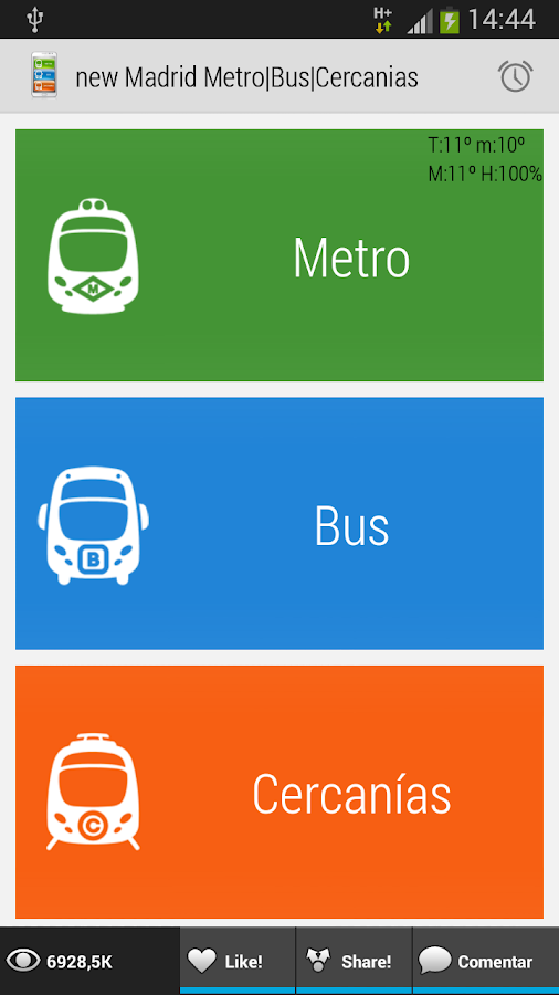 key-Madrid Metro|Bus|Cercanias- screenshot