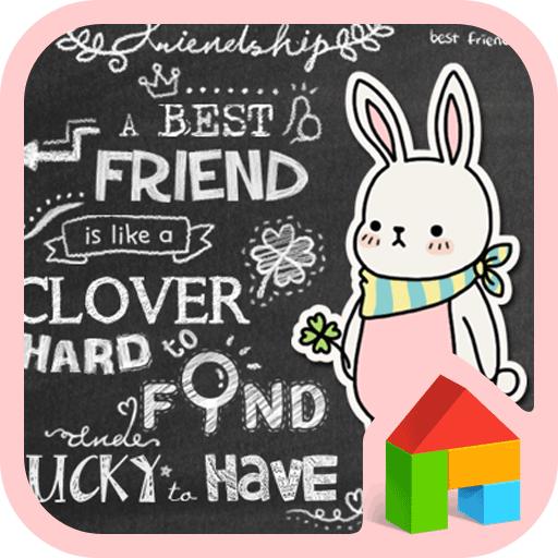 럭키클로버(칠판낙서)도돌런처테마 漫畫 App LOGO-APP試玩