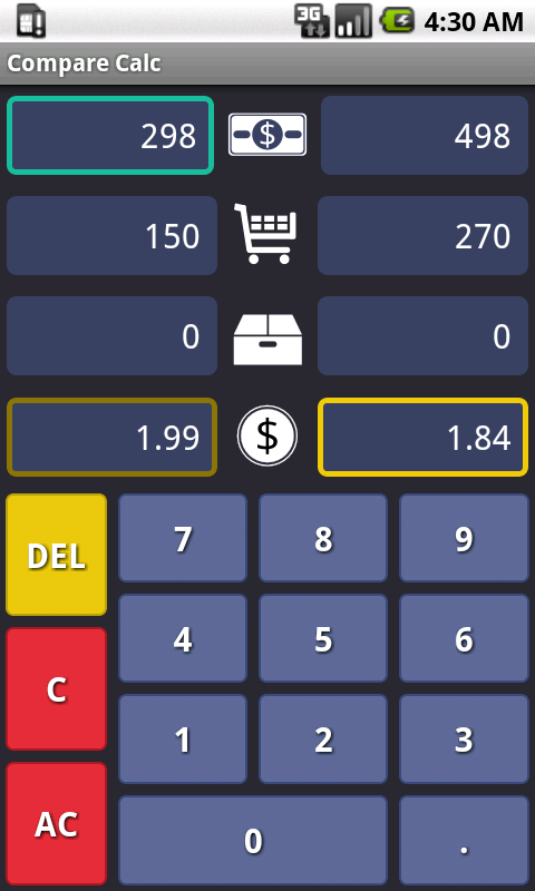 Compare Calc : Unit Price- screenshot
