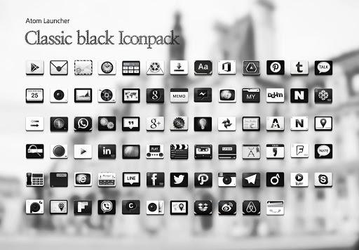 Classic black Atom Iconpack