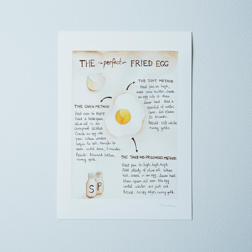 Food52's How to Make the Perfect Fried Egg Recipe Print