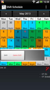 Shift Calendar (Shift Roster)