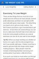 Screenshot of 100 Weight Loss Tips