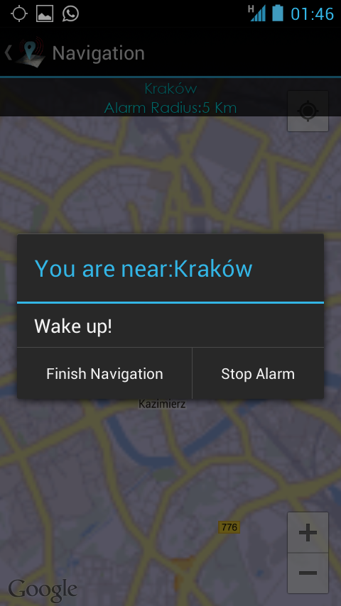 Travel Alarm (Lite) - screenshot