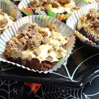 Halloween Peanut Butter Rocky Road Brownies