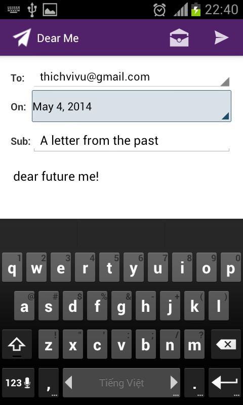 Dear Future Me- screenshot