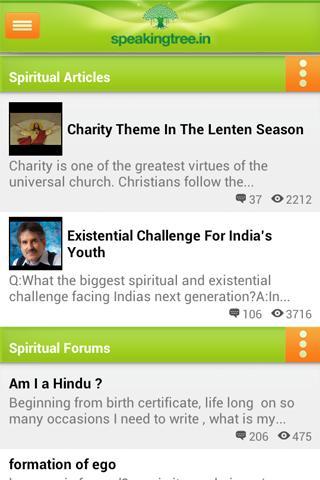 Screenshots for Speaking Tree