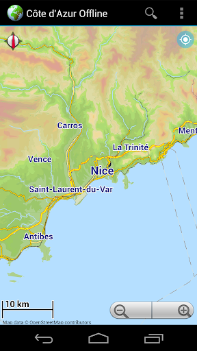 Offline Map Côte d'Azur France