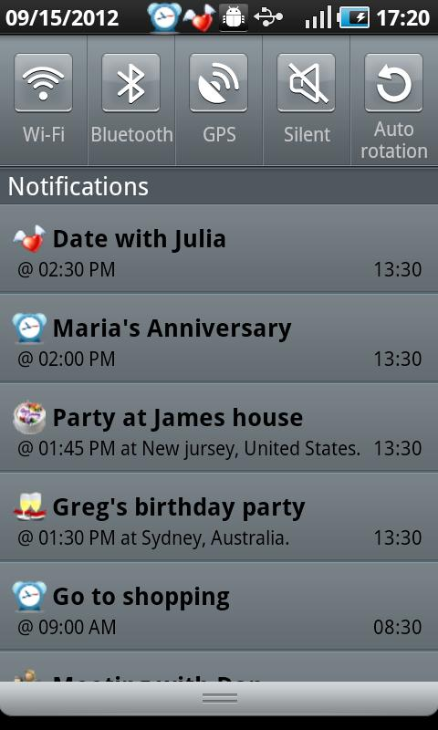 Calendar Boom-Events Reminders - screenshot