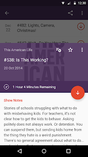 Pocket Casts: miniatura da captura de tela