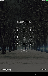 Snow Christmas Lock Screen - screenshot thumbnail