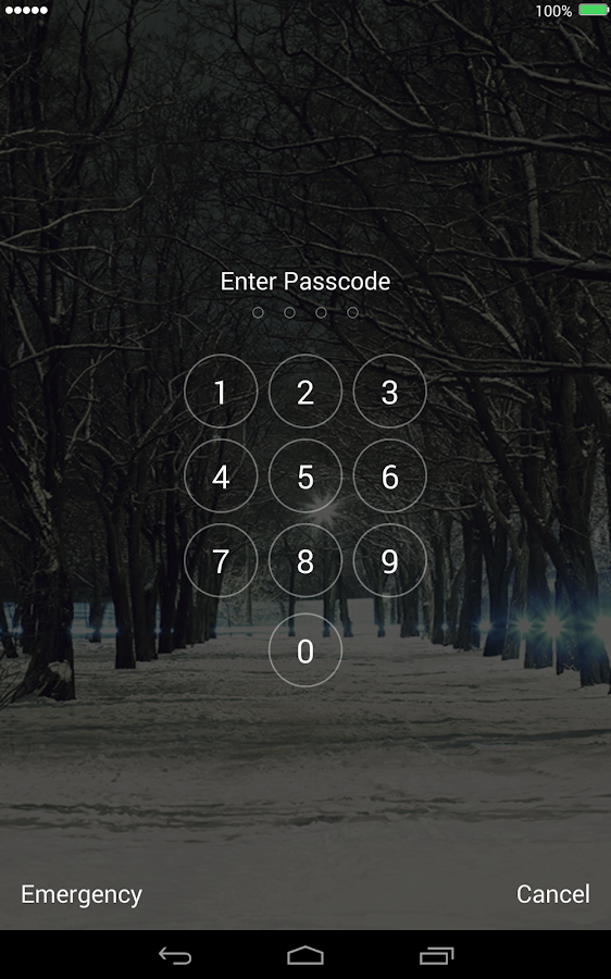 Snow Christmas Lock Screen - screenshot