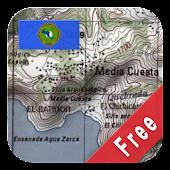 Central America Topo Maps Free