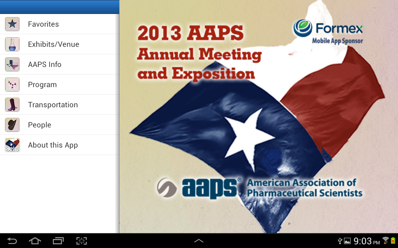 2013 AAPS Annual Meeting- screenshot