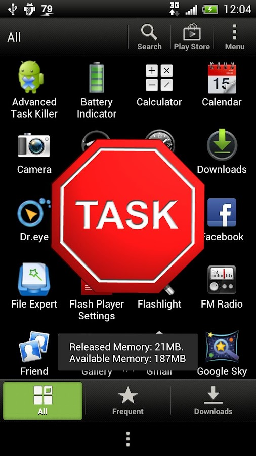 Droid Task Killer - screenshot