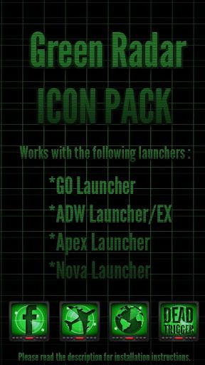 Green Radar - Icon Pack