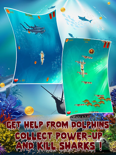 玩冒險App|Mega Dive Shark Attack Escape免費|APP試玩