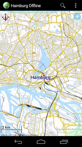 Offline Map Hamburg