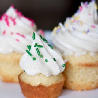 Classic Vanilla Cupcakes.