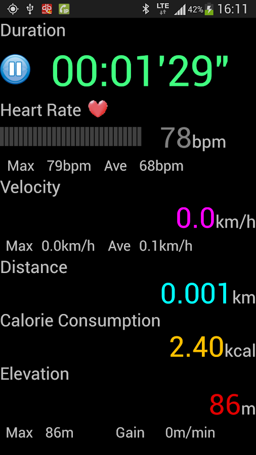 Heart Rate Monitor plus- screenshot