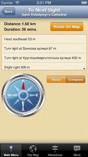 【免費旅遊App】Kiev Map and Walks-APP點子