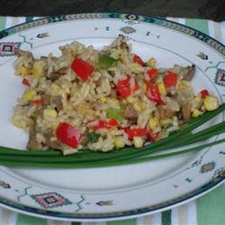 Roasted Corn and Basmati Rice Salad.