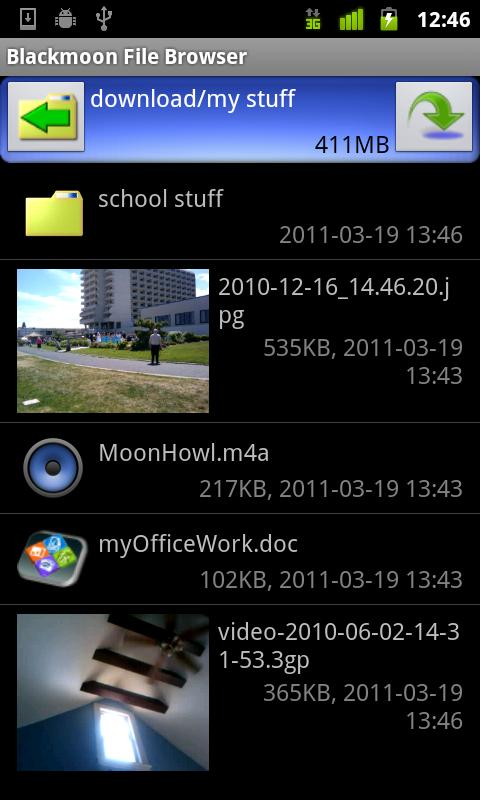 Blackmoon File Browser- screenshot