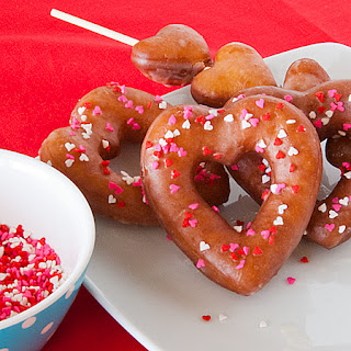 Heart Shaped Glazed Doughnuts