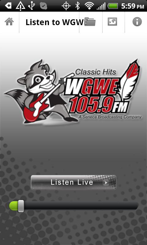 WGWE 105.9FM - screenshot