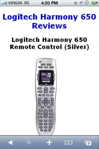 Harmony 650 Remote Reviews