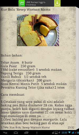 Kumpulan Resep Kue Bolu